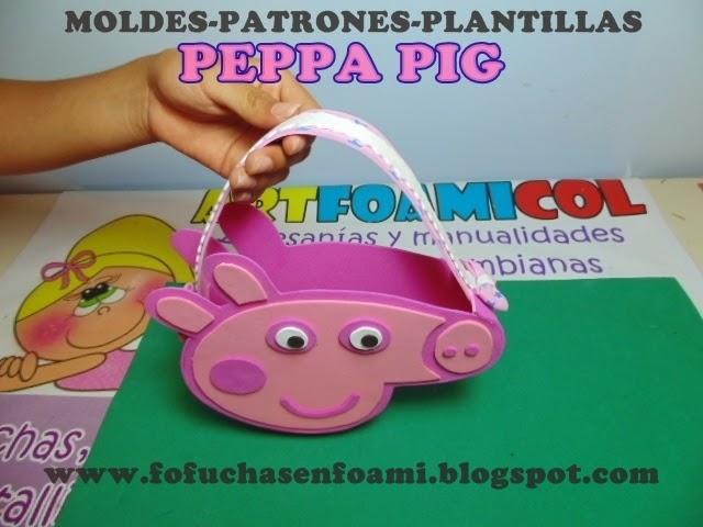 Mis Fofuchas 2013 Artfoamicol: BOLSOS O COLTILLONES PEPPA PIG PARA ...