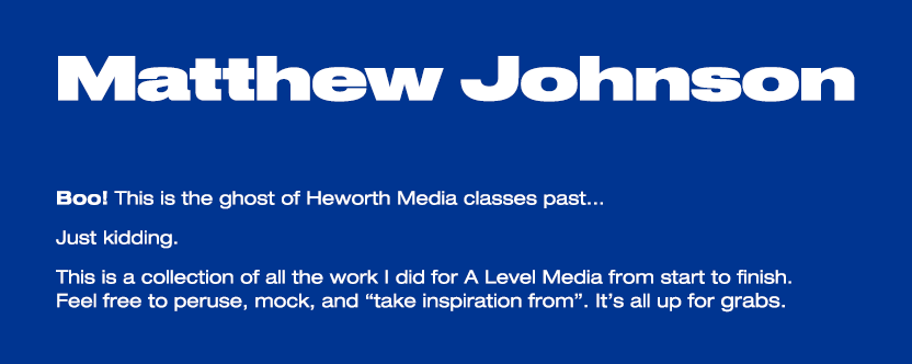 Matthew Johnson Media Studies