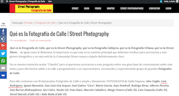 Interviewed by streetphotography.es