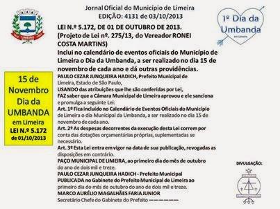 15 de Novembro - Dia da Umbanda em Limeira
