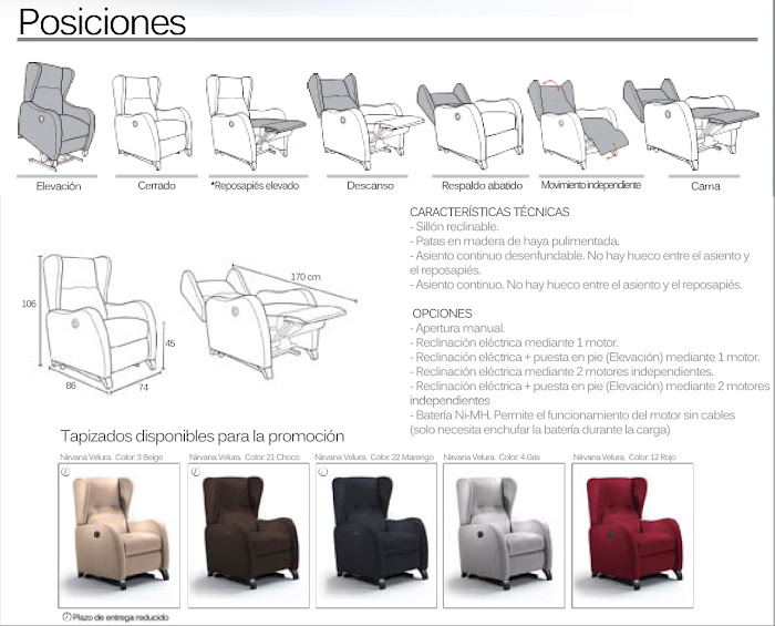 SILLON RELAX POWER LIFE 2 MOTORS