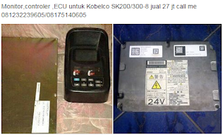 Monitor,controler ,ECU untuk Excavator  call me 0816523095 / 08175140605