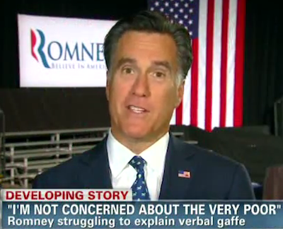 Mitt ROmney I'm not concerned about the very poor 