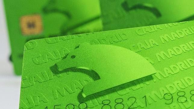 tarjetas, caja madrid
