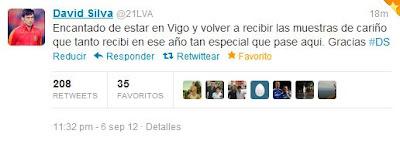 David Silva recuerda su paso por el Celta de Vigo