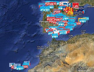 Mapa de la corrupción es España