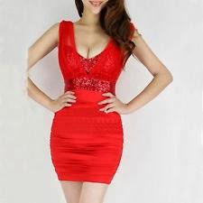 New women sexy Short Red Prom dress