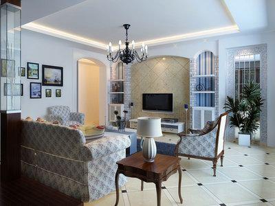 desain interior ruang tamu mewah bergaya modern