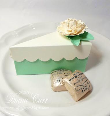 the secret life of paper cake slice wedding favor box. Black Bedroom Furniture Sets. Home Design Ideas