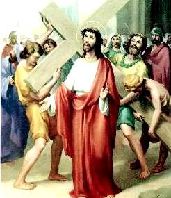 Jesús carga con su cruz