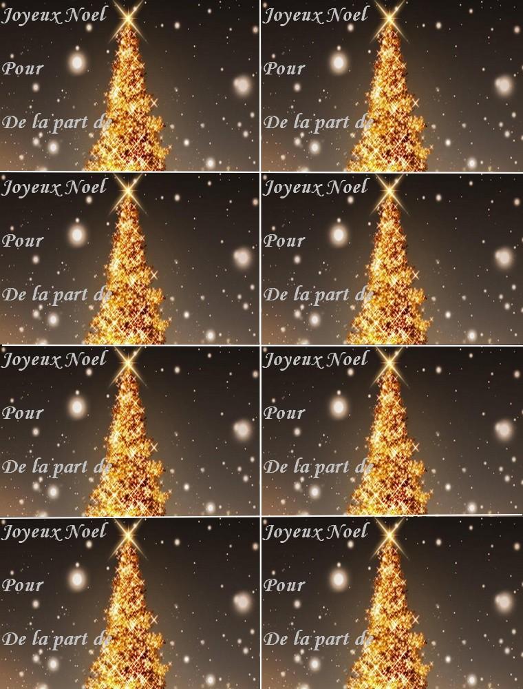 Top du meilleur jolies tiquettes cadeau no l marque place et menu or de no - Marque place nouvel an ...