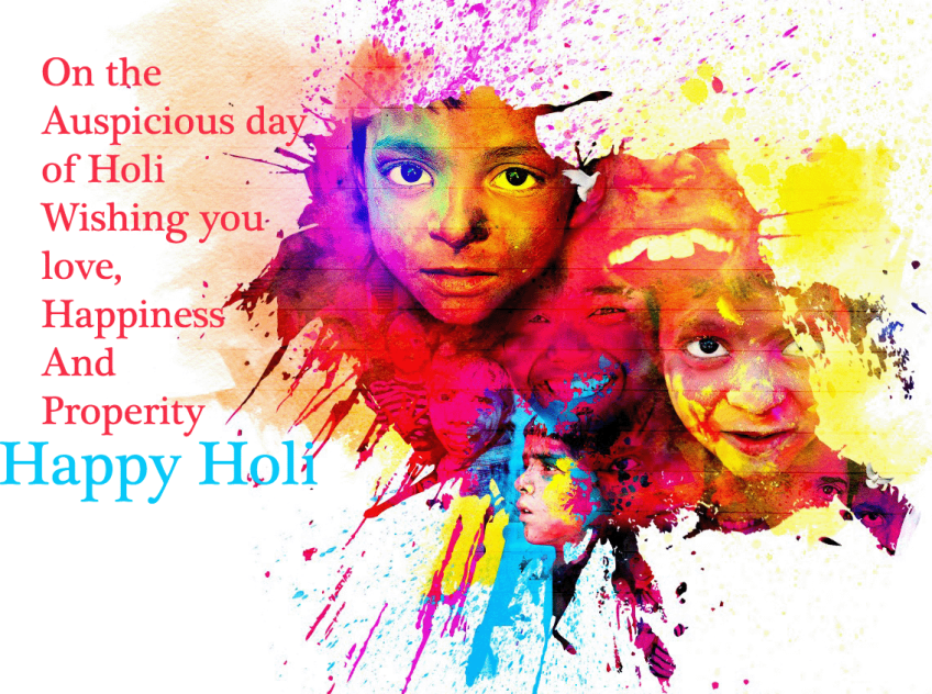 Happy holi message quote wallpapers