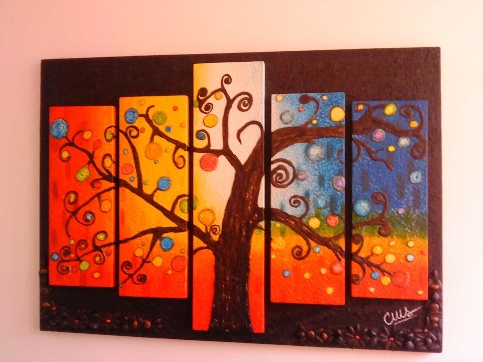 Evanisvl cuadros con texturas y semillas - Cuadros modernos con texturas ...