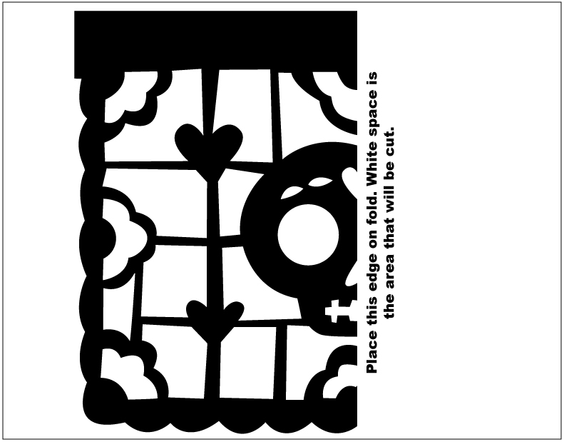 Modest image in papel picado template printable