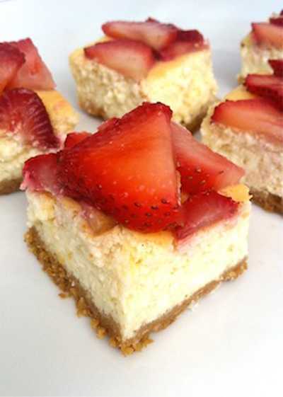Strawberry Cheesecake Squares by Local Savour