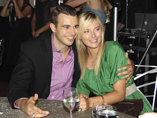Maria Sharapova in Nice Dress with boyfriend