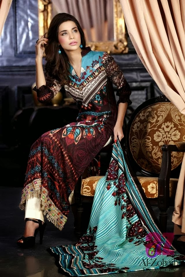 Bright Colored Printed Lawn Suits 2014