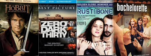 The Hobbit, Zero Dark Thirty, Rust and Bone, Bachelorette