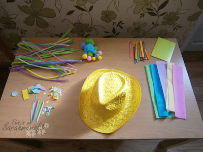 easter craft supplies making an easter bonnet