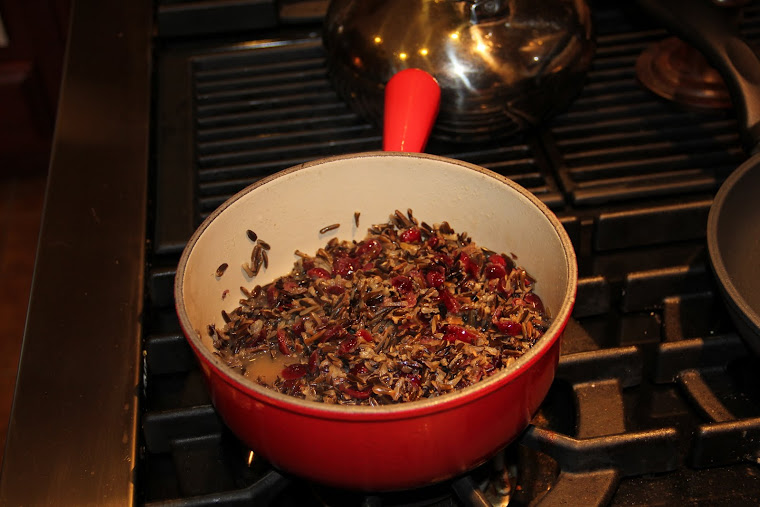 Add the dried Cranberries and plump.