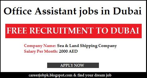 Office Assistant jobs in Dubai