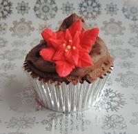 Cupcake Navidad: Flor de Pascua