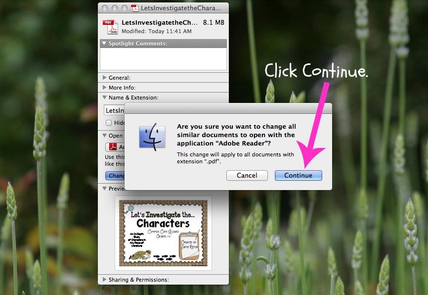 how to set default pdf reader mac