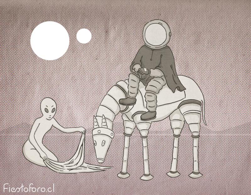 Astrohuaso y alienlavandero