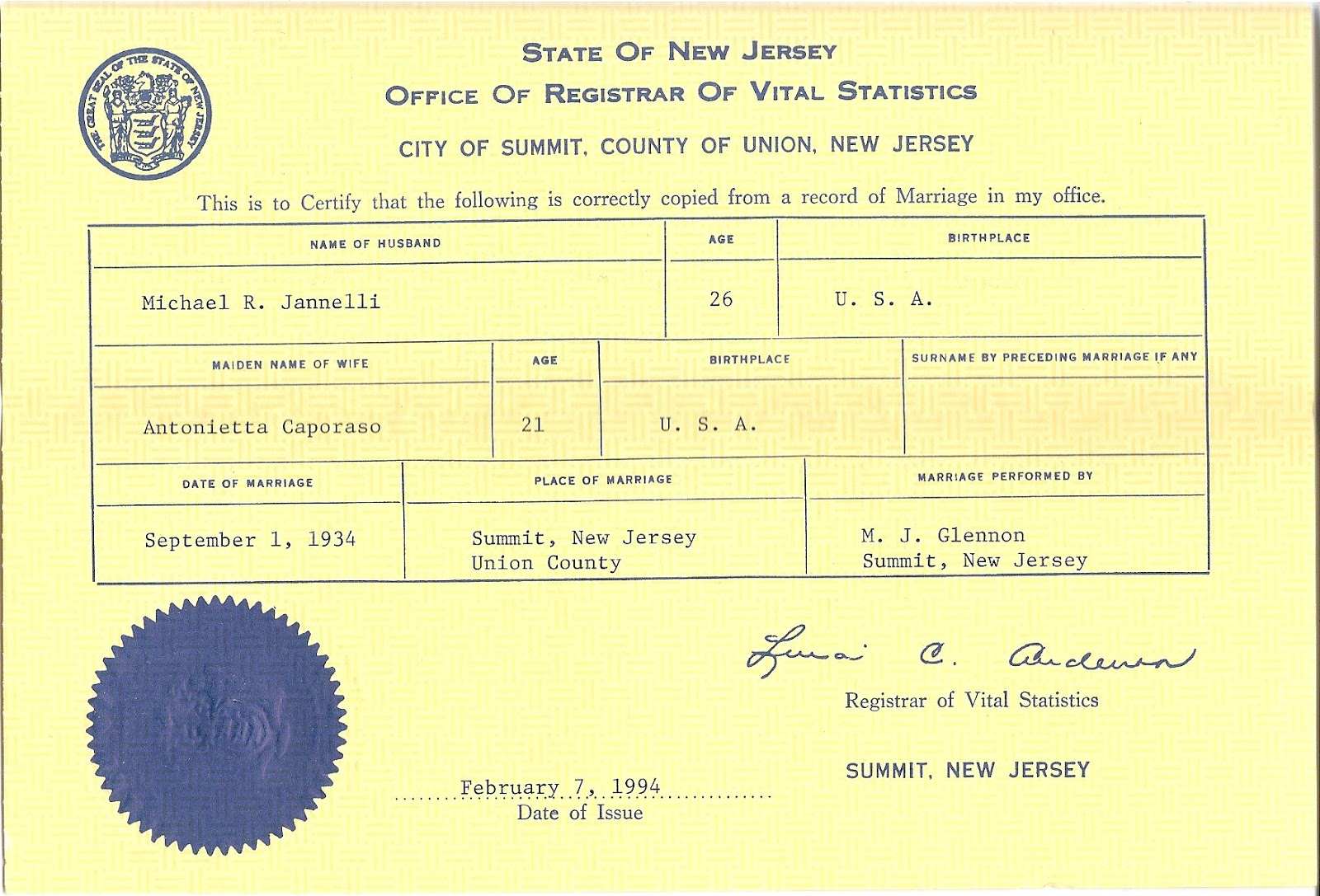Andres jaramillo death certificate status new jersey marriage record in 1900 the rechten family lived in an apartment house at 205 adams street in hoboken new jersey aiddatafo Images