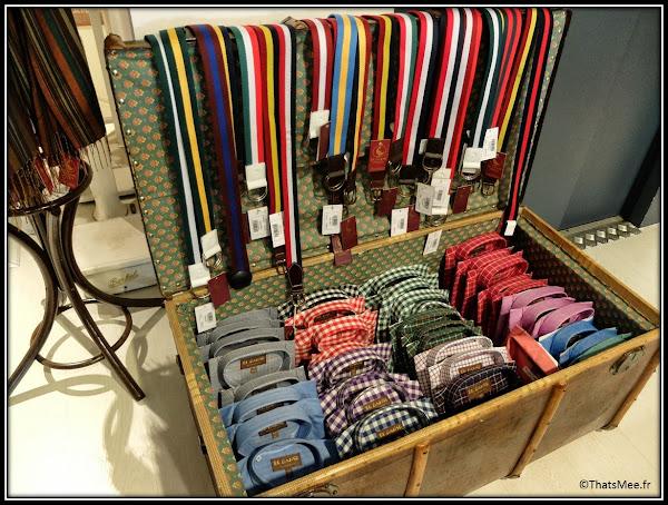 Seville boutique El Ganso hommes casual classique détails marque espagnole casual chic chemises à carreaux ceintures rayées