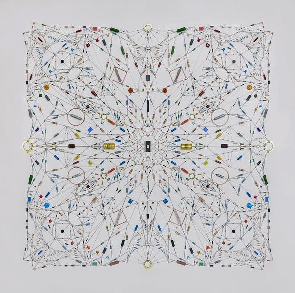 Technological Mandalas Made from Soldered electronic Components 7