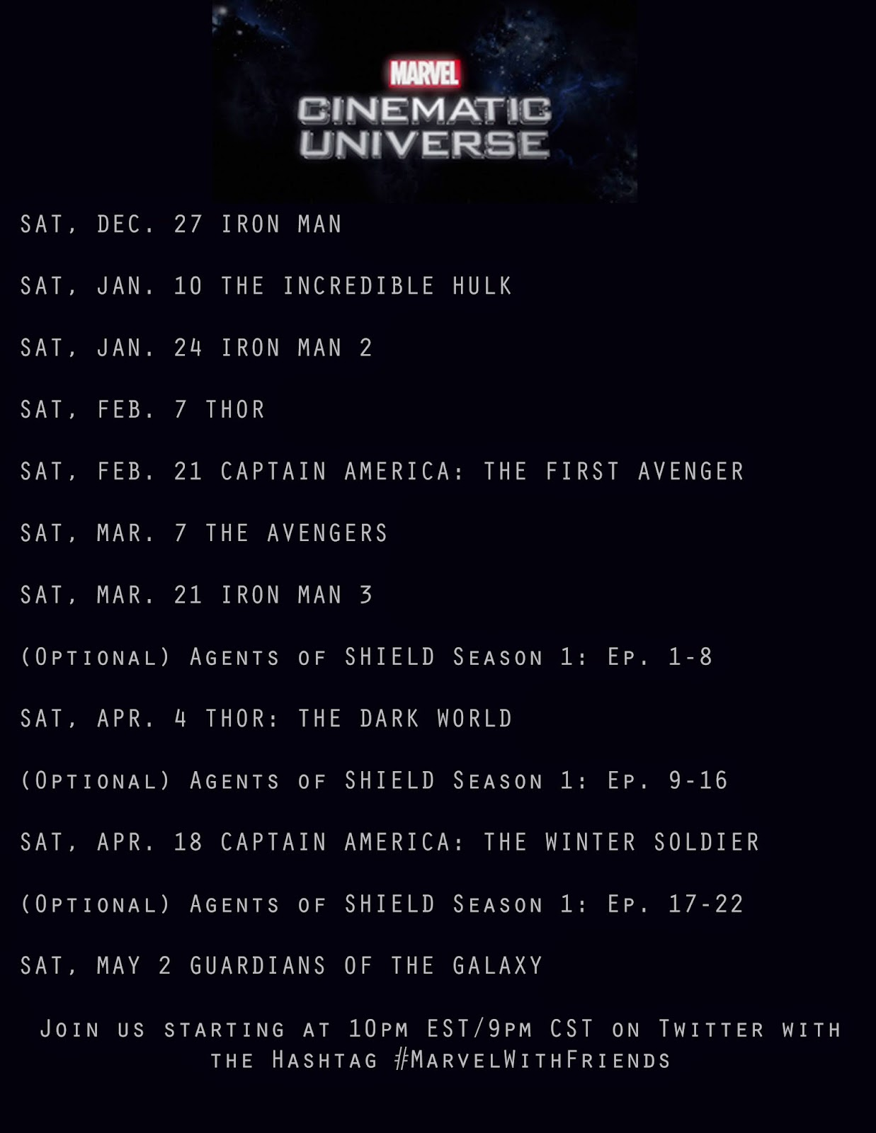 Marvel With Friends movie schedule