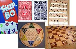 skip bo, 42 tricks, hoyle cards, checkers, chinese checkers