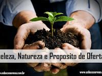Beleza, Natureza e Proposito de [Dar] Ofertar