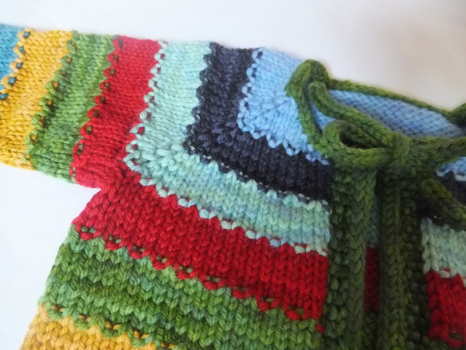 More baby knits this time with stripes the crafty geek but the transition between them using a row of moss stitch to make a really clever and easy two colour row with texture bankloansurffo Choice Image
