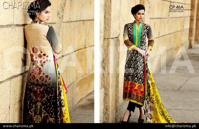 Two Shaded Kameez with Capri Trouser