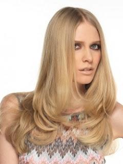 cabello largo cara redonda