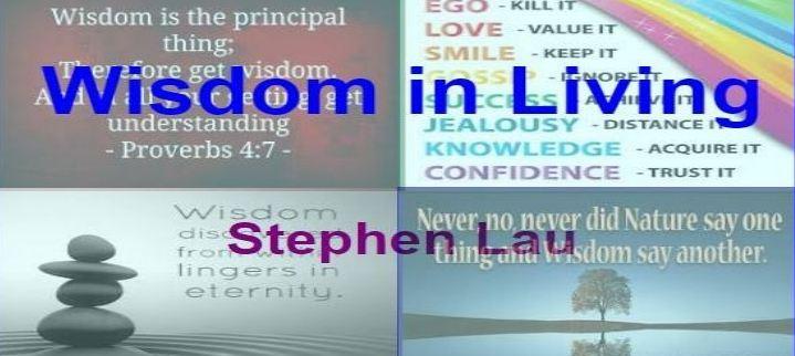 <b>Wisdom in Living</b>