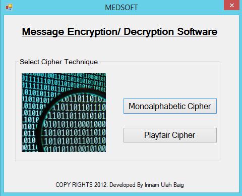 Let Us Solve!: Message Encryption/ Decryption Software in C#