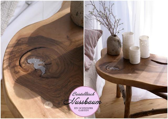Ein schweizer garten diy holztisch for Holztisch beistelltisch