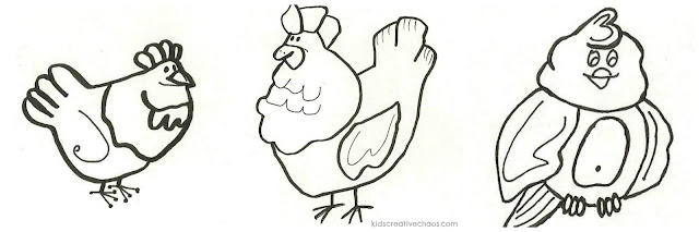 How to Draw Birds Traceable Cartoon Chickens