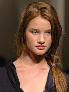 Rosie Alice Huntington Whiteley Straight Side Braid Hairstyle