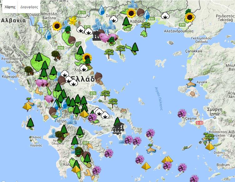 Μελισσοκομικός Χάρτης Ελλάδος