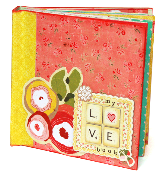 Scrapbooking Valentine's Day pop up book class and tutorial