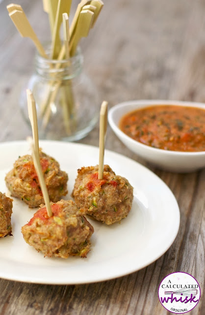 Chicken Meatballs with Garlic Kale Marinara (Paleo, Whole30)