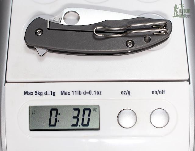 Spyderco Mantra EDC Pocket Knife - On Scale