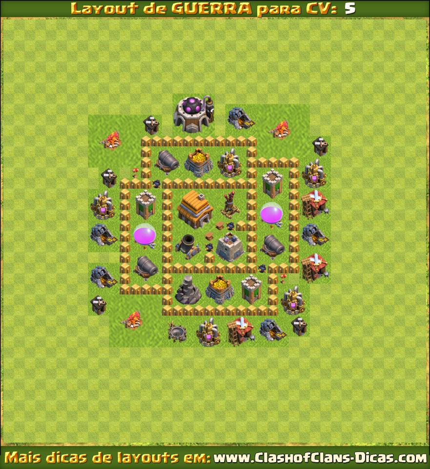 layouts para cv5 em guerra