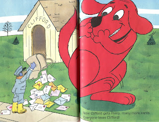 sample page from CLIFFORD'S VALENTINES  by Norman Bridwell (booksforkids-reviews.com)