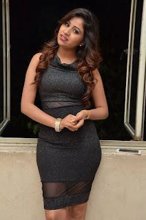 Manali Rathod in Shining Short Sleeveless Dress at Shtree Repu Raa Movie Audio Launch