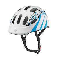 Mercedes-Benz Bikes 2013: Children's bike helmet in blue/white. Exclusive Mercedes-Benz design.